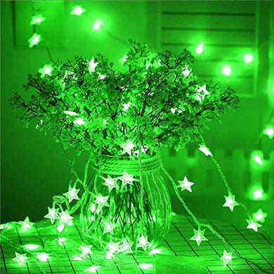 Green Crystal Star String LED Light for Bedroom Diwali Decoration LED Star Fairy Light For Valentine Day Decoration Home Decor Christmas Diwali Lighting Romantic Mood Light ( 8 mtr) Made In india (pack of 1)