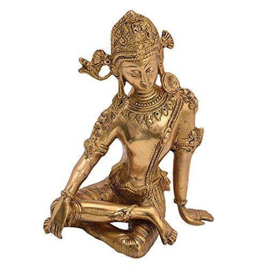 Aone india Lord Indra Brass Statue (Height-9.5
