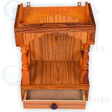 Load image into Gallery viewer, Hydroshell Mandir for Pooja Home Decoration Wall Hanging Beautiful Wooden Plywood Temple