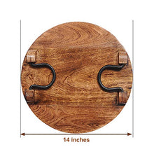Load image into Gallery viewer, SAVON Wood Party Serving Platter Round Cheese Wine Crackers Meat Circle Board Tray - 14 Inch
