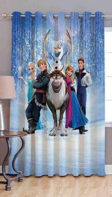 Amazin Homes Polyester Frozen Kids Cartoon 3D Digital Print Curtain (Multicolour, 4 x 7 ft) - Home Decor Lo