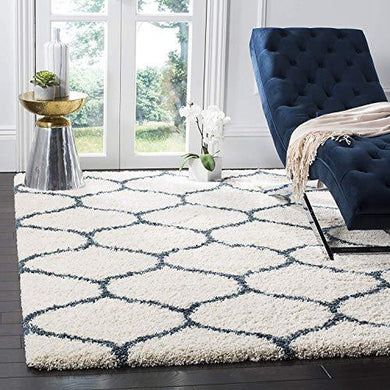 Be Wild Moroccan Ogee Plush Area Rugs Carpet Floor Mat for Home, Bedside, Kitchen, Bed Room, Living Room, Multi-Purpose Thick Shaggy Rug with Anti Skid Carpet (BW02, 5x7 feet) - Home Decor Lo