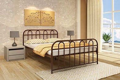 Homdec Aquarius Metal Double Bed