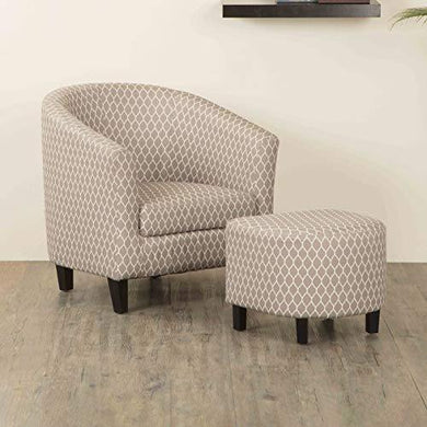 Home Centre Accent Chair with Ottoman - Home Decor Lo