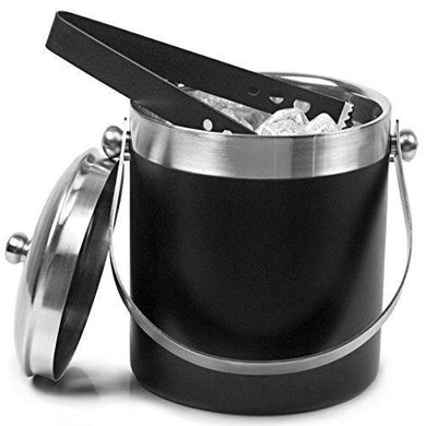 Tulsi King Traders -Stainless Steel Ice Bucket Black - 1750ml - Home Decor Lo