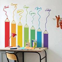 Load image into Gallery viewer, Decals Design 'Colourful Colour Pencil Design' Wall Sticker (PVC Vinyl, 60 cm x 90 cm),Multicolour