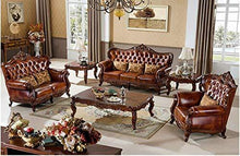 Load image into Gallery viewer, Shilpi Solid Sheesham Wood Sofa Set | Wooden Sofa Set | Living Room Furniture (3+2+1, Brown) Without Table - Home Decor Lo