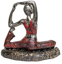 Load image into Gallery viewer, TIED RIBBONS Yoga Posture Lady Statue Figurine for Home Table Top Living Room Hall Bedroom Shelf Decoration - Yoga Statue in Decor (29 X 25 cm, L X H) - Home Decor Lo