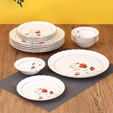 Clay Craft Fine Quality Ceramic Printed Dinner Set 18 Pieces Set