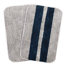 Load image into Gallery viewer, CAZIMO Anti Striped Skid Microfiber Door Mat Set of 2- 16 x 23 Inches, 40 cm x 58 cm (Blue : Grey)