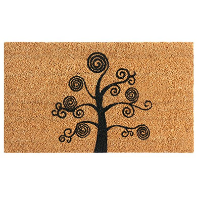 Rubber-Cal Deciduous Tree Modern Door Mat, 24 x 57