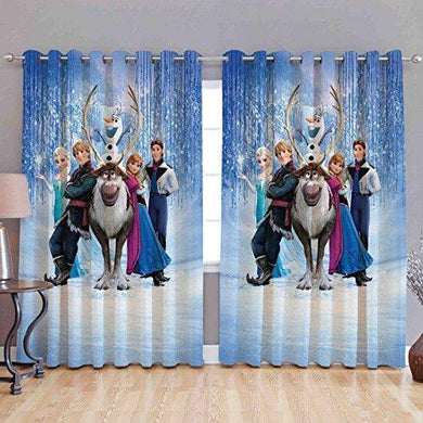 BhaiJi BedSheet Kids Cartoon Design Curtain for Girl Room (4x5 Feet Window Size) - Set of 2 - Home Decor Lo