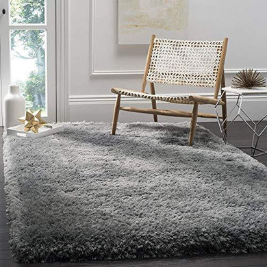 Sweet Homes Microfiber Fluffy Anti-Skid Carpet (2.9 x 5 ft, Medium grey) - Home Decor Lo