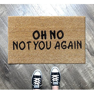 Atmah Oh No Not You Again Coir Door Mat- Size 40 X 60 Cm