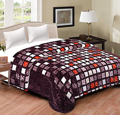 Spangle Premium Imported Pure Wool Double Blanket Multicolour
