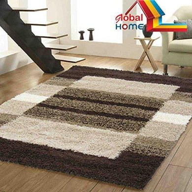 Global Home Brand New Hand Loom Modern 5D Shaggy Rugs And Carpets For Living Room, Hall - Home Decor Lo