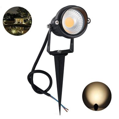 CITRA 6W LED Landscape Spotlight 12w 240V Outdoor Waterproof Path Light Low Voltage Lamp with Spike Stand (Warm White) - Home Decor Lo