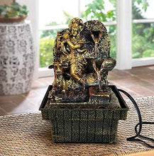 Load image into Gallery viewer, TIED RIBBONS Krishna Statue Decorative Water Fountains with LED Lights for Tabletop Waterfall Indoor Outdoor Living Room Garden Home Decoration and Gifts - Home Decor Lo