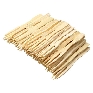 Sainath Traders Disposable Wooden Fruit Fork 8 cm (3.1 inches) |Mini Fork |Bamboo Party Forks |Mini Cocktail Pick |Fruit Apetizer Dessert Fork