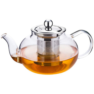 Incrizma Glass Kettle/Teapot with Stainless Steel Infuser & Lid - Home Decor Lo