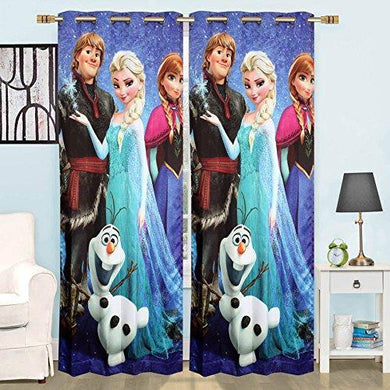 Ami Creation Digital Cartoon Print Door Curtain for Kids Room Living Room Pack of 1 (Frozen, 7ft) - Home Decor Lo