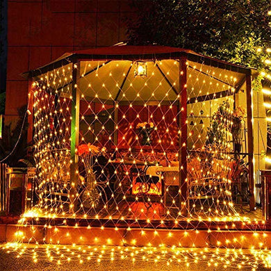 CITRA 300 LED Net Mesh Fairy String Light Still Effect Lighting 10x10 Foot for Diwali Decorationm Backdrop Garden Tree Waterproof - Warm White