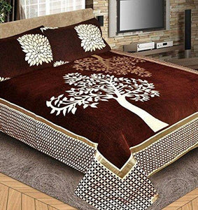 Fresh From Loom Chenille 500 TC Bed Cover (Brown_King)