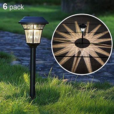 Maggift 6 Lumens Solar Garden Lights Solar Landscape Lights Solar Pathway Lights Outdoor for Lawn, Patio, Yard, Garden, Walkway, 6 Pack