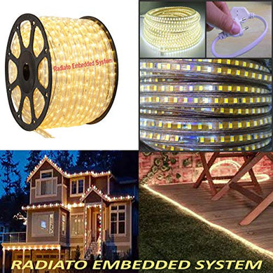 Radiato ES LED Strip Rope Light,Water Proof,(Home Decoration,Festive Lights,Diwali Lights, led Lights) with Adapter. (Yellow, 5 Meter)