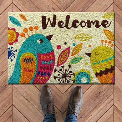 Atmah Birdy Welcome Coir Door Mat, Size 40 X 60 Cm