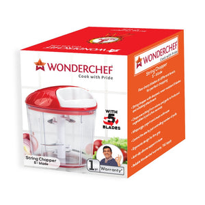 Wonderchef Plastic Chopper, Red/White