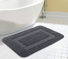 Load image into Gallery viewer, Saral Home Soft Microfiber Bathmat, 45x70cm (Grey) - Set of 2