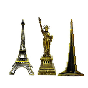 Paris Eiffel Tower Statue Of Liberty and Burj Khalifa Gifting Special Combo - Home Decor Lo
