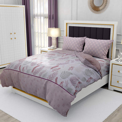 Nirwana Decor Cotton bedsheets for Double Bed King Size , King Size Cotton bedsheets with Pillow Covers. 275X275 cm (Leaf-Pink)