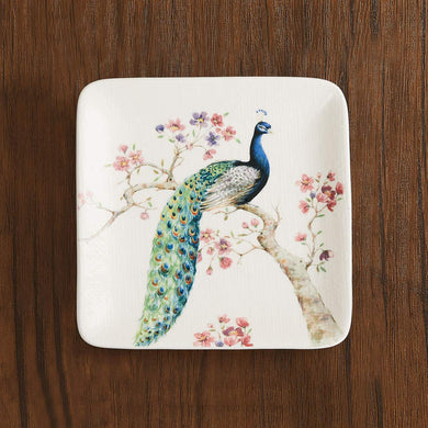 Home Centre Moksha Peacock Print Side Plate