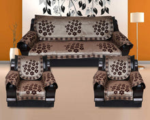Load image into Gallery viewer, KINGLY Cotton 12 Pcs Rangoli Design Sofa Covers Set of 5 Seater - Home Decor Lo