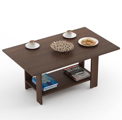 Bluewud Osnale Coffee Table (Wenge, Rectangular) - Home Decor Lo