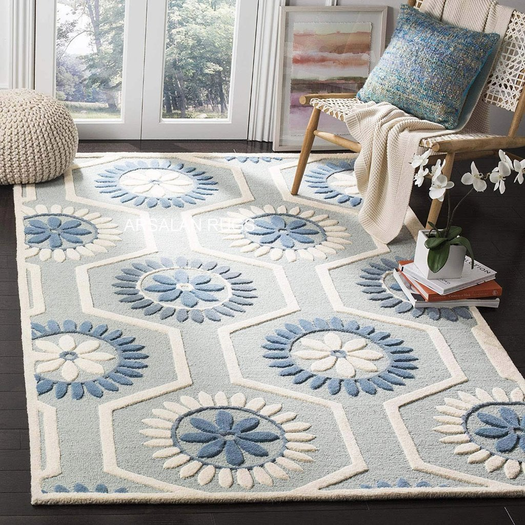 Arsalan Rugs Handmade Export Quality Woolen Carpet for Living Room - Home Decor Lo