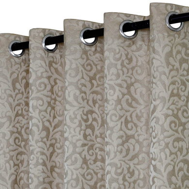 Urban Hues Floral Pattern Polyester Jacquard Eyelet 1 pc Curtain - Home Decor Lo