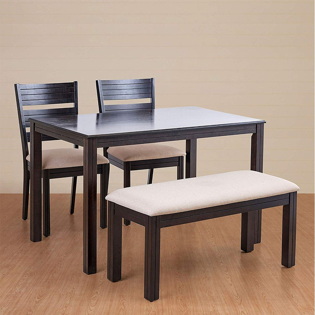Montoya 4 Seater Dining Table Set with Chair and Bench | Home Centre - Home Decor Lo