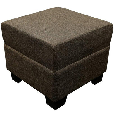 Classic Ottoman Stool: Brown - Home Decor Lo
