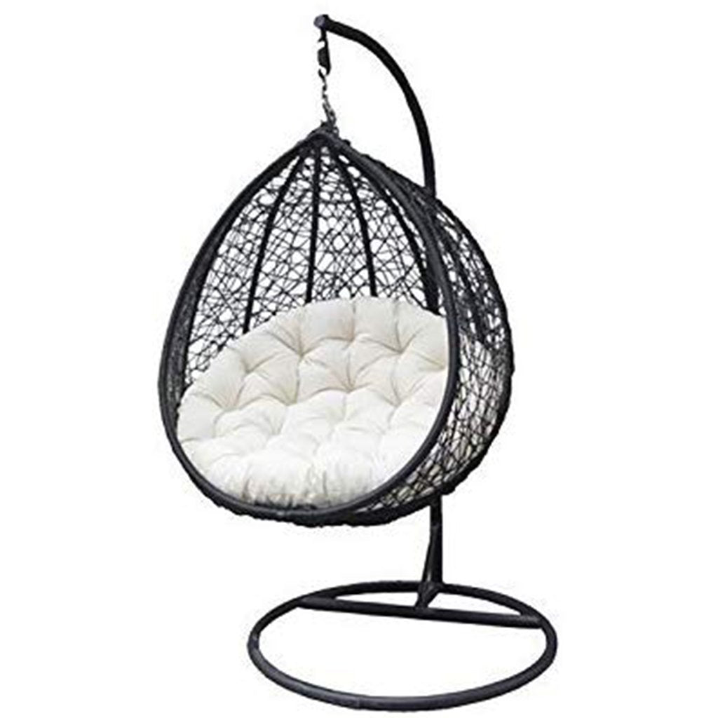 Rattan Hanging Egg Swing Chair With Cushion Amp Hook