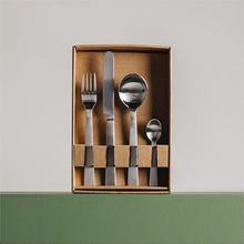Load image into Gallery viewer, Brushed Stainless Cutlery Set 24 Piece