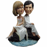 Near Beach Wedding Custom Bobblehead