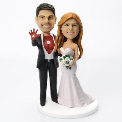 Iron Man Couple Popular Custom Bobblehead With Engraved Text