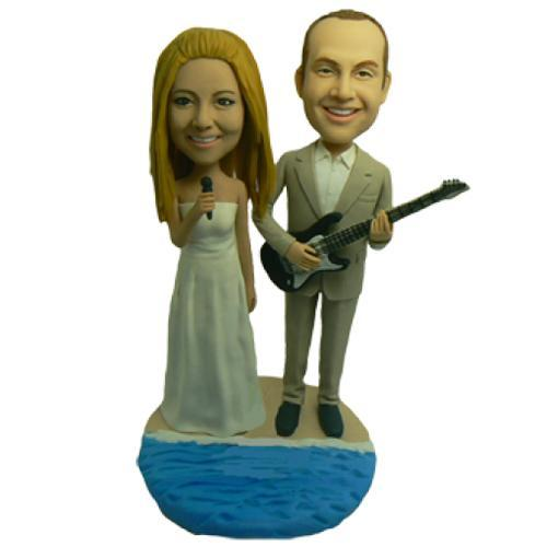 Guitar Wedding Custom Bobblehead