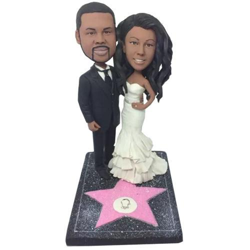 Walk of Fame Couple Custom Bobblehead