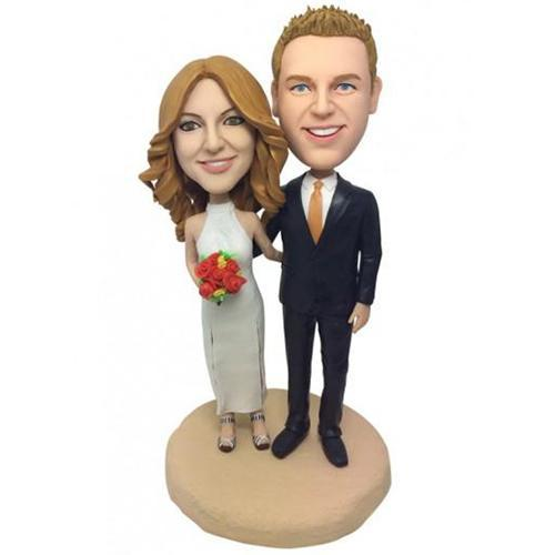Wedding With Cheongsam Custom Bobblehead With Engraved Text