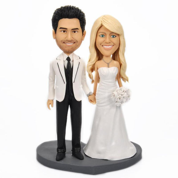 Sweet Wedding Custom Bobblehead With Engraved Text