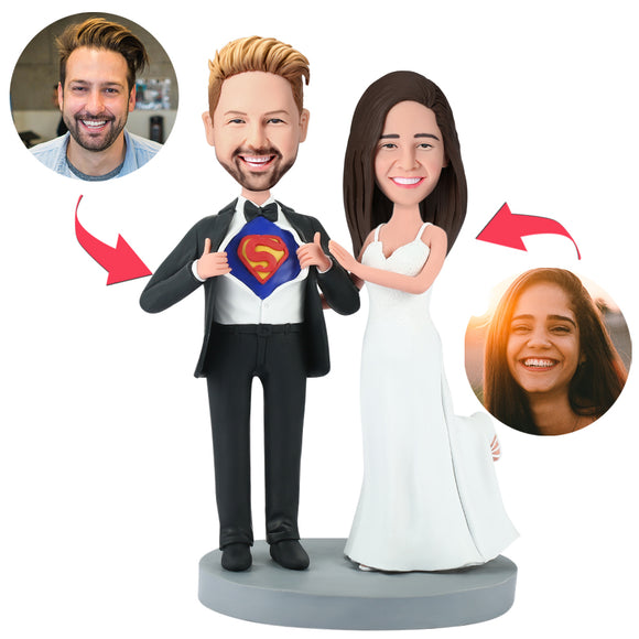 Wedding Superman Popular Custom Bobblehead